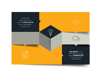 Square template infographic banner diagram. Stock Photo