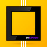Square text frame on bright yellow background. EPS10 Stock Photos