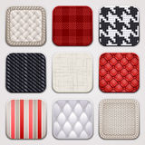 Square textile apps Stock Image