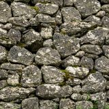 Square texture of natural stone wall Royalty Free Stock Photos