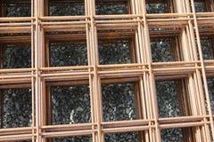Square texture rebar Royalty Free Stock Photo