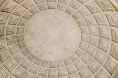 Square textured ceiling in a dome stock photos