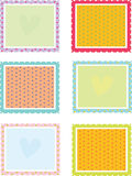 Square textures vector illustration