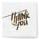 Square thank you card with modern glitter  lettering Royalty Free Stock Photos