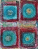 Square The Circle Abstract Painting Stock Photography
