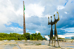 Square of the Three Powers in Brasilia, the capital of Brazil. Royalty Free Stock Photo