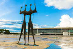 Square of the Three Powers in Brasilia, the capital of Brazil Royalty Free Stock Photos