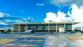 Square of the Three Powers in Brasilia, the capital of Brazil Royalty Free Stock Photo