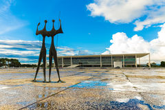 Square of the Three Powers in Brasilia, the capital of Brazil Royalty Free Stock Images