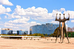Square of the Three Powers Brasilia Goias Brazil Royalty Free Stock Photos