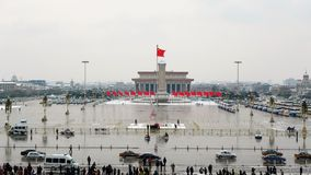 Square. Tiananmen square is the center of beijing royalty free stock photography