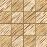 Square tile, background, seamless, ochre, vector. The shaded squares on the diagonal beige on dark beige field. Wood texture, shading pencil, simulation. Color Stock Photo