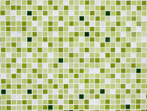 Square tile wall. Pattern green square tire wall Stock Photography