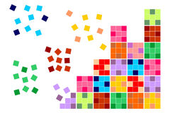 Square tiles. Of diferent colors in white background vector illustration