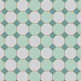 Square tilt with Octagon tiles pattern in vector. Stock Photo