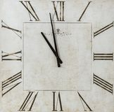 Square Time Piece Clock Stock Photo