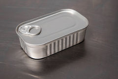 Square tin can Royalty Free Stock Image