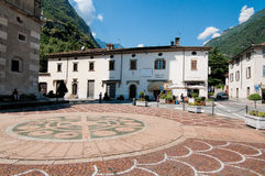 Square in Tirano Stock Images