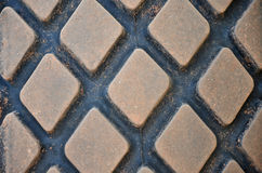 Square tire tread texture Royalty Free Stock Photography