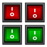 Square toggle power switches Royalty Free Stock Images