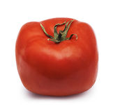 Square tomato. Isolated over white Stock Images