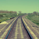 Square toned image of railroad Royalty Free Stock Photo