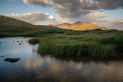 Square Top Lakes - Colorado. Square Top Lakes, with Mount Bierstadt in the background Stock Photography