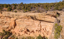 Square Tower House in Mesa Verde NP Stock Images