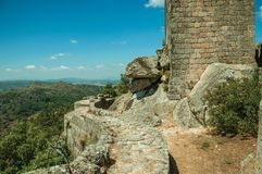 Free Square Tower On Top Of Rocky Hill In A Castle Stock Images - 146758694