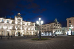 Square in town of Catania Sicily Italy Royalty Free Stock Photos