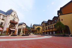 Square in town. The central square in a town royalty free stock images