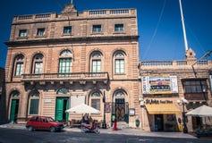 Square at town Xewkija, Gozo island - Malta Stock Image