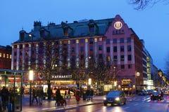 Christmas at Hötorget in Stockholm. Square trade and cozy Christmas atmosphere at Hötorget - the Haymarket - in Stockholm.n Stock Images