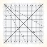 Square transparent ruler for quilting Stock Images