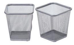 Square trash bins Stock Photo