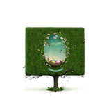 Square tree Royalty Free Stock Images