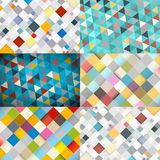 Square and Triangle Backgrounds Royalty Free Stock Image