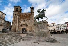Square of Trujillo, Unesco site, Spain Stock Images