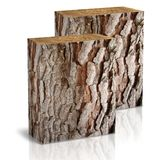 Square trunk of tree. On a white background Royalty Free Stock Image