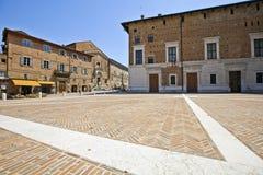 A square of Urbino royalty free stock photo