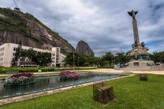 Square in Urca, Rio de Janeiro Royalty Free Stock Photos