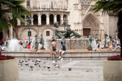 Square in Valencia Royalty Free Stock Photo
