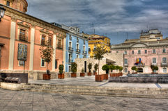 Square in Valencia, Spain Stock Images