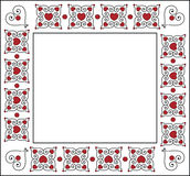 Square Valentine Frame or Tag Royalty Free Stock Images