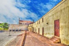 Square in Valverde sanctuary, Sardinia Royalty Free Stock Image