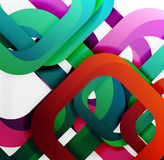 Square vector background. 3d style overlapping geometric shapes with shadows on light backdrop Royalty Free Stock Photo