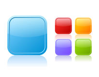 Square vector buttons Royalty Free Stock Photos