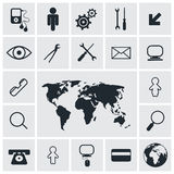 Square Vector Icons Set Royalty Free Stock Images