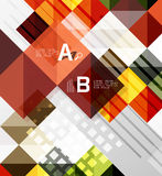 Square vector modern abstract background. With letter option infographics - sample text Stock Image
