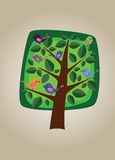 Square vector tree 07 Royalty Free Stock Photo